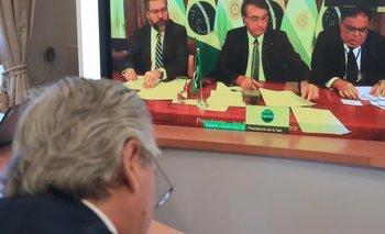 Qué hablaron Alberto y Bolsonaro en el primer encuentro entre ambos    Alberto fernández