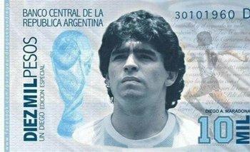 Proponen crear un billete con la imagen de Diego Maradona | Murió diego maradona