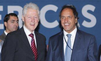 Scioli se mostró con Clinton en Miami | Bill clinton