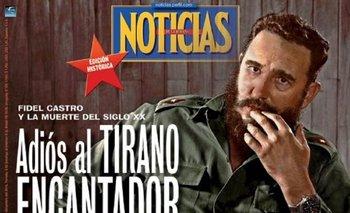 La curiosa similitud de la tapa de Noticias con una publicación de EE.UU. | Fidel castro