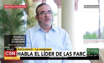 """Entrevista exclusiva al líder de las FARC: """"Recogimos experiencias de la Argentina""""   Economía política"""