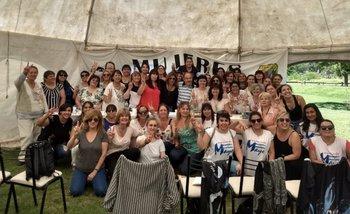 El frente de mujeres peronistas pidió por la candidatura de Magario en 2019 | Política