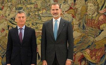 ¿Sentirá angustia? Macri se despidió del Rey de España   Macri presidente