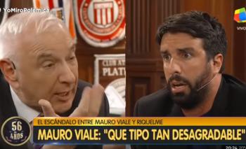 Azzaro defendió a Riquelme y se peleó con Mauro Viale al aire | Polémica en el bar