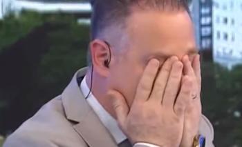 Un periodista lloró en vivo por los datos de pobreza | Televisión