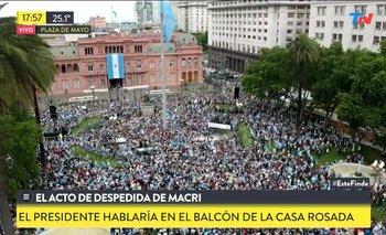 Aberrante mensaje de una mujer en el acto de despedida por Macri | Mauricio macri