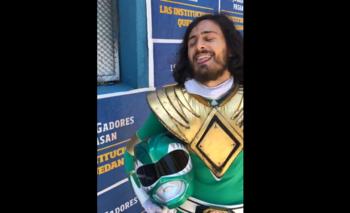 Insólito: socio de Boca fue a votar vestido de Power Ranger | Elecciones en boca