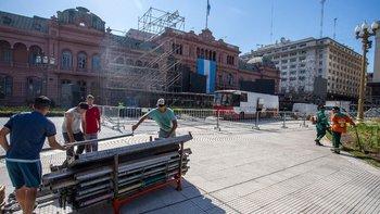 Así luce Plaza de Mayo sin rejas   La transición