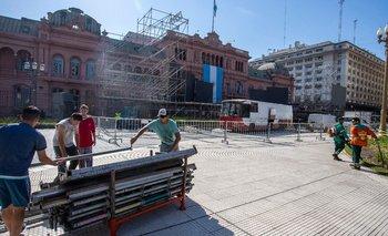 Así luce Plaza de Mayo sin rejas | La transición