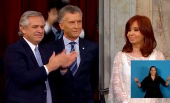 El guiño peronista de la traductora en la asunción de Alberto   Alberto presidente