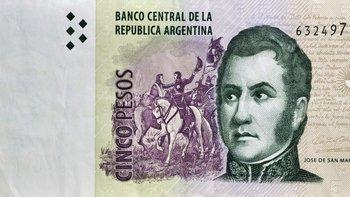 En febrero saldrán de circulación los billetes de $ 5   Para tener en cuenta