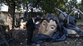 Bauer mostró cómo quedaron destruidos Zamba y San Martín   Tecnópolis
