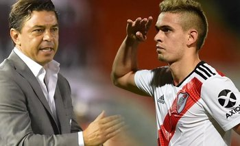 El cruce entre Gallardo y Borré en pleno partido de River | Copa argentina