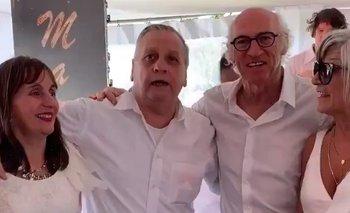 El dueño de Guaymallén fue al festejo de Bianchi y grabó un video con él | Carlos bianchi
