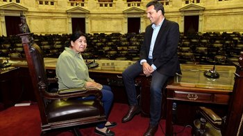 Massa y Margarita Barrientos se reunieron en el Congreso   Alberto presidente