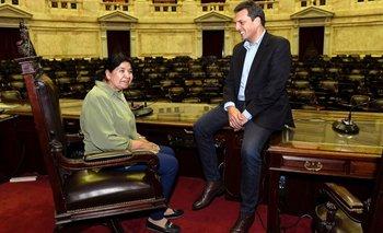 Massa y Margarita Barrientos se reunieron en el Congreso | Alberto presidente