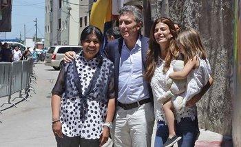 Reapareció Macri y visitó a Margarita Barrientos | Navidad