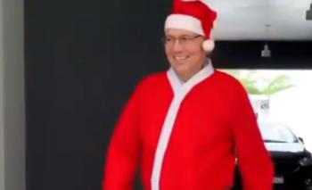 Alejandro Sabella se vistió de Papá Noel | Navidad