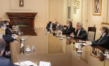Alberto se reunió con banqueros y expresó su apoyo a nuevos proyectos   Casa rosada