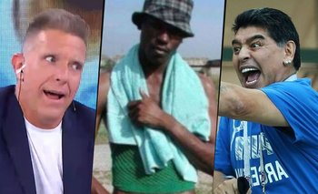 "El día que Maradona le regaló ""la del negro de Whatsapp"" a Fantino   Murió diego maradona"