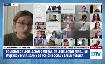 Los insólitos argumentos de una influencer anti derechos en Diputados   Aborto legal