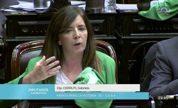 "Cerruti le dedicó su voto pro aborto a Pino Solanas: ""Vamos a cumplir"" | Aborto legal"