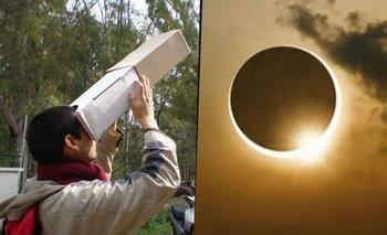 Eclipse solar: cómo construir anteojos caseros para no dañar la vista | Eclipse solar