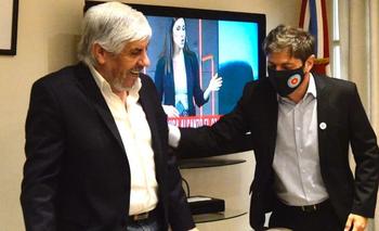 Axel Kicillof elogió a Moyano por el trabajo del gremio en la pandemia   Día del camionero