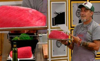 Cuánto cuesta la pieza de atún rojo que cocinó el Mono de Kapanga | Masterchef celebrity