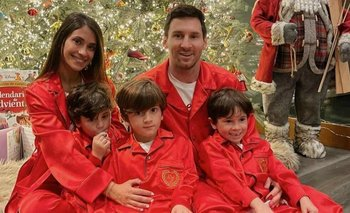 La tierna postal navideña de la familia Messi | En redes