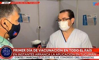 Cronista de TN quiso instalar dudas con la vacuna y un médico lo cruzó | Vacuna del coronavirus
